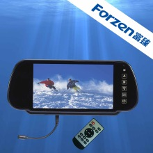 7 inch touch screen car dvr rearview mirror with MP5 FM transmitor AV input car reversing