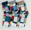 Men Irregular Block Pattern Polyester Fashion Sock