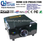 full hd 1080p digital TV projector with 2200 lumens & led lamp & 2* USB & 2* HDMI for home entertainment & game cube & DVD