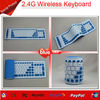 2.4G mini colored wireless flexible keyboard silicone portable keyboard for laptop PC