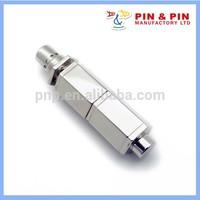 fashion zinc alloy silver chrome hexagon 3d usb memory stick