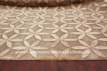 handknoted wool and silk rug