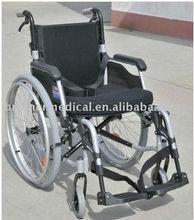 Aluminum folding removable arm type and detachable leg rest wheelchair BME4636