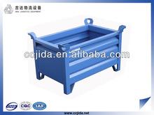 Heavy duty steel stackable pallet bins