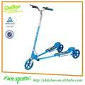 De doble pedal de dos patas patada scooter, triciclo de deriva, adultos tres scooter de rueda
