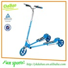 Dual Pedal Two Footed Kick Scooter, Drift Trike, Adult Three Wheel Scooter