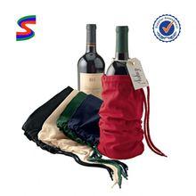 Christmas Organza Wine Bag Polyester Wine Bag
