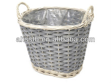 2015 Natural woven baskets plastic liner