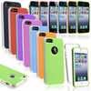 2in1 gel hybrid TPU hard case for iphone 5