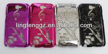 cheap custom eletroplate mobile phone hard case for samsung galaxy note2 n7100