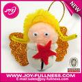 diy anjo de natal jingle bell ornamento artesanato para crianças