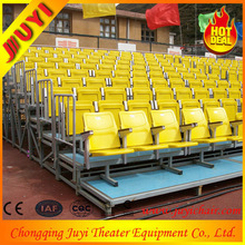 JY-716 Wholesale Dismountable Public Portable Grandstand Seating Rattan Raw Material Indonesia Waiting Outdoor Folding Chair