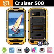 IP67 Rugged Waterproof Android phone Cruiser S08 Android 4.2 GSM+3G Dual core GPS navigator waterproofed