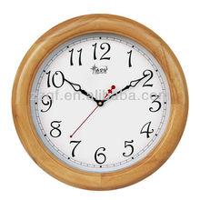 Simple nature wood flip wall clock