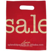 Luxury shopping plastic bag wholesale
