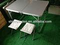 alüminyum barbekü katlanabilir masa ve sandalyeler