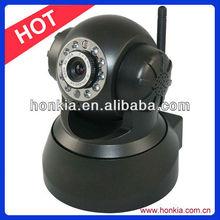 Two way audio &Pan/Tilt ip dome camera indoor remote control P2P Wifi Network camera