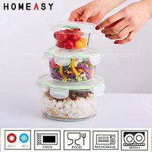 High borosilicate square 590ml borosilicate toaster lunch box for toaster