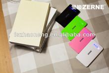 2015 new ultra thin portable power bank 5000/9000 mah