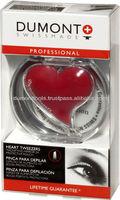 PROFESSIONAL COSMETIC RED EYEBROW HEART TWEEZERS
