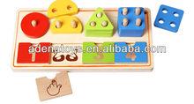 Wooden children education digital shape classification board.wooden alphabet board.