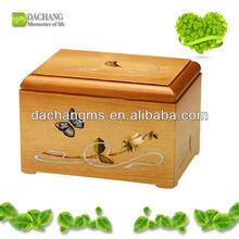 caskets wooden cremation urn for baby infant ashes wooden craft urn