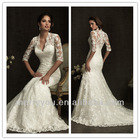 MERRY YOU New Arrival Mermaid Lace Long Sleeves Covered Back Wedding Dress In Dubai (MYALLURE8900)