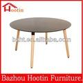 2014 venda quente rodada de madeira mdf mesa de jantar para salas de jantar/coffe shop/escritório para venda c661