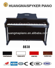 Digital Piano Factory 88 keys Touch Sensitive Hammer Keyboard MIDI Black Polish HUANGMA HD-8838M Teaching Upright Digital Piano