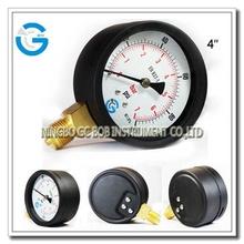 Brass internal black steel standard pressure gauge