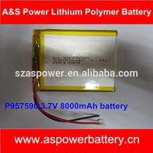 High Capacity mid tablet battery 3.7V 8000mAh Lipo battery
