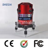 4V4H1D 8 Lines Electronic Self-Leveling Laser Level SK-YF808RE (HOT)