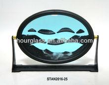 Sable mouvant Art / ovale sablier / temps Fly jouet bleu