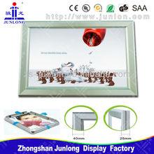 2014 New Advertisment Product! Cafe Signs, Restaurant Hanging Menu Board, Poster Frames, Zhongshan Junlong Lighting