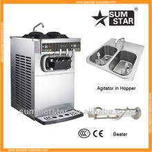 NEWEST! Sumstar S230 rainbow soft ice cream machine/ice cream making machine/pre-cooling ice cream maker