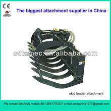 fork grapple for skid steer loader (skid loader attachment,bobcat attachment)