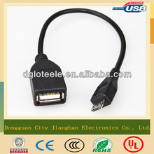 portable micro 5pin male to female otg usb cable dongguan trading company
