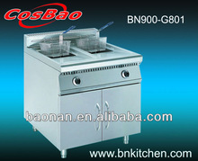 Gas Deep Fryer For Fried Chicken With Cabinet