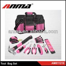 18pc Pink Tool bag Set/protable tool set/lady tool bag set
