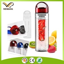 BPA free tritan plastic fruit infuser water bottle with private label printing