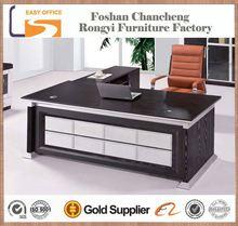 2014 good quality 1.8m MDF wood boss white high gloss office desk