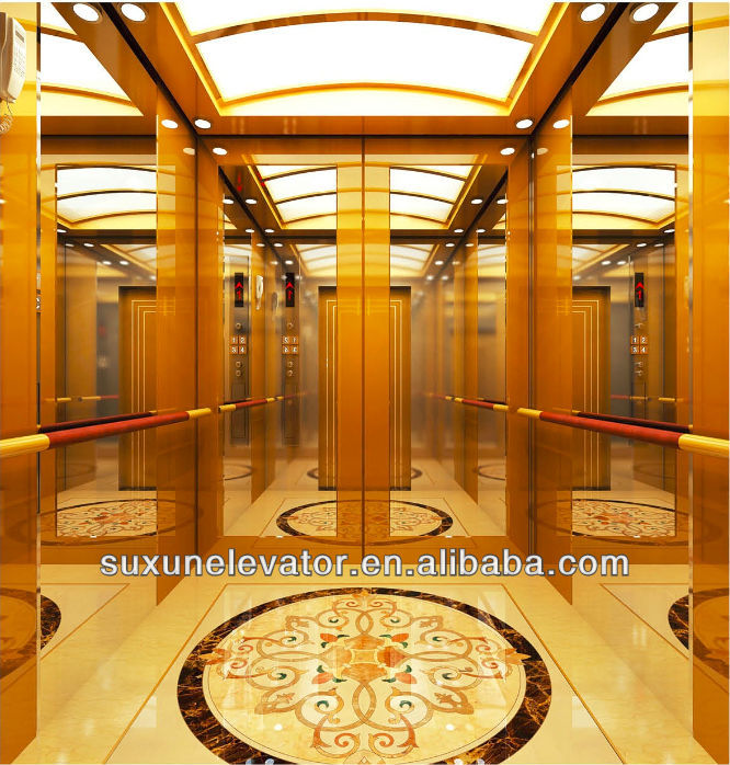 Machine Roomless Traction Types Luxury Passenger Elevator