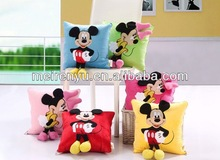 Top selling 2 in 1 solid travel cartoon pillow blanket