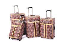 New urban design eminent PU leather ladies travel bag trolley luggage