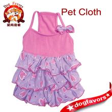 Elegant Pet Dress/ Pet Clothing/ Fashion Dog Dress with Bow