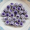 .Purple White Striped Large 10MM 500pcs Chunky Gumball Bubblegum Acrylic Solid Beads ,Resin Chunky Beads for Necklace Jewelry