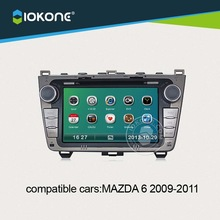 7inch in dash car dvd radio player with gps navigation for Mazda 6 2009 2010 2011