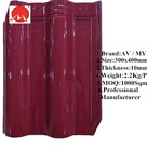 Glossy Red colorful ceramic Kerala Glazed roof tiles from China factory