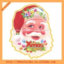 2014 hot sale 3D kids christmas baubles sticker