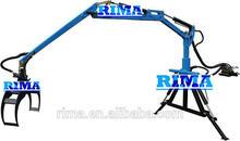 Three-point linkage lumber crane reach 3.4m,4.5m,5.3m and 6.5m